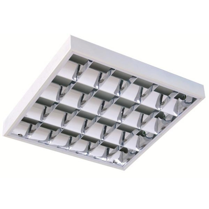 T8 4 tube recessed fluorescent lighting with cat 2 fitting aloadofball Images